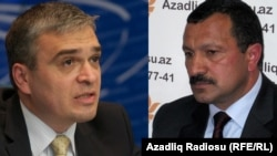 Ilqar Mammadov (left) and Tofiq Yaqublu face up to three years in prison.