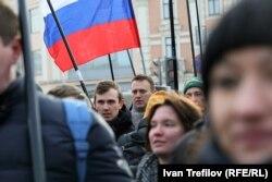 Алексей Навальный на марше в память о Борисе Немцове в Москве, февраль 2017 года