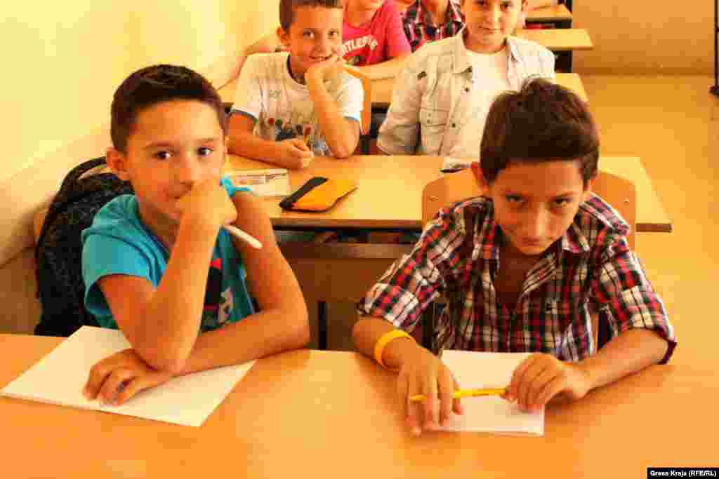 September 3 was the first day of school for these sixth-graders at the primary school Faik Konica in Pristina, Kosovo.