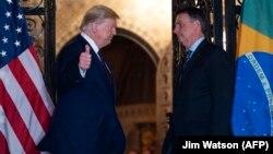 ԱՄՆ- ԱՄՆ և Բրազիլիայի նախագահները զրուցում են, Ֆլորիդա, 7 մարտի, 2020թ.
