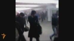 Minsk metrosunun olüm platformasından görüntülər