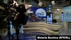 Пустующий павильон томской телекомпании «ТВ-2» после запрета на вещание, ноябрь 2014 года