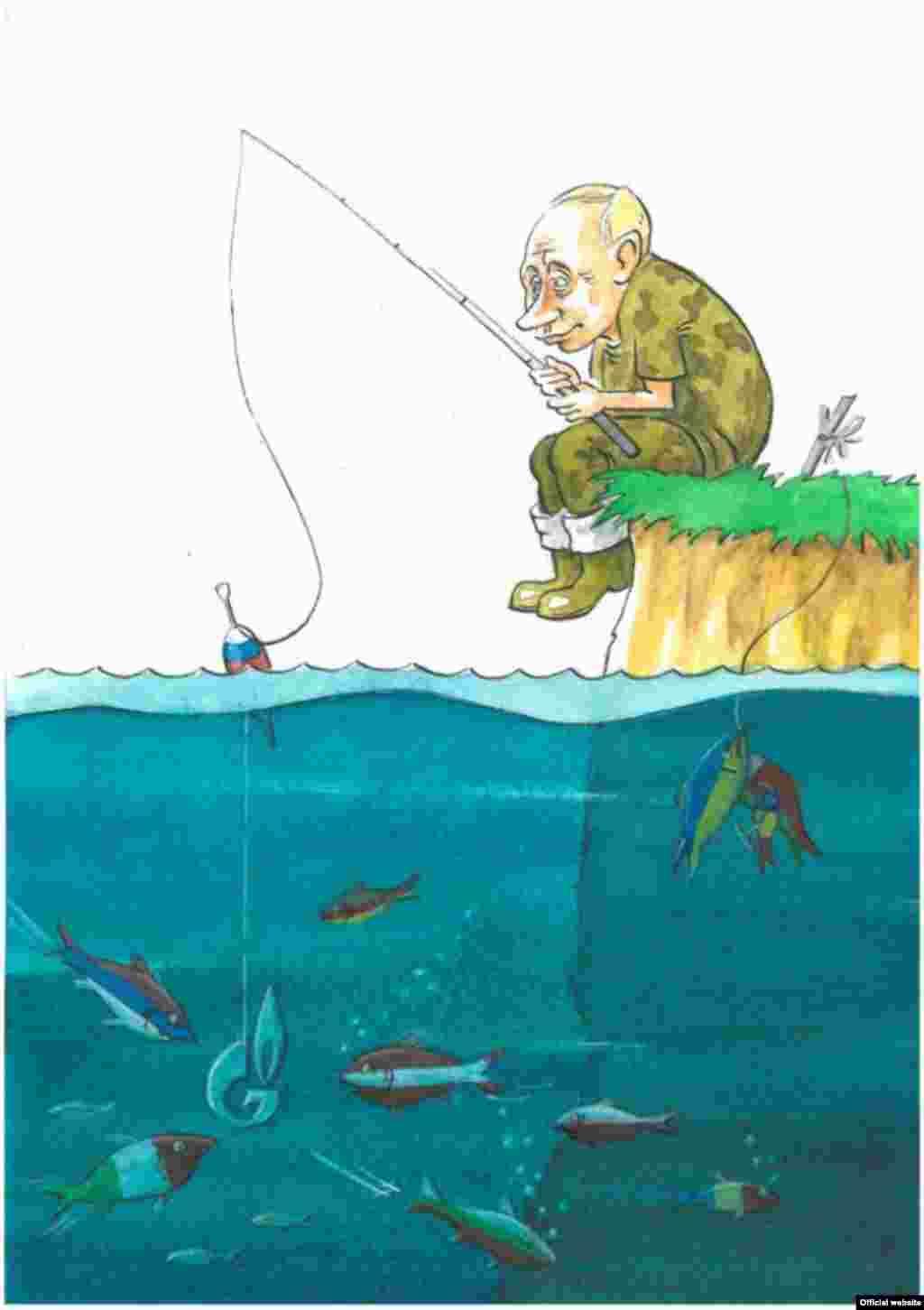 Работа Виктора Голуба, победителя Третьего международного конкурса карикатур