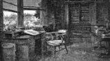Samuel Luke Fildes, Scaunul gol, gravură din 1870.