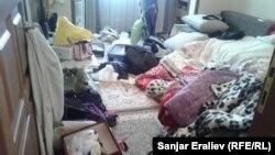 Квартира Гульнары Айталиевой после проведенного обыска