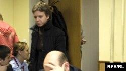 Вера Политковская на первом процессе по убийству Анны Политковской, 4 декабря 2008