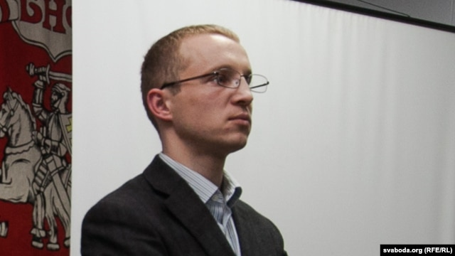 Belarusian Youth Front leader Zmitser Dashkevich