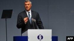 Hashim Thaçi gjatë fjalimit në takimin vjetor të BERZH-it në Stamboll