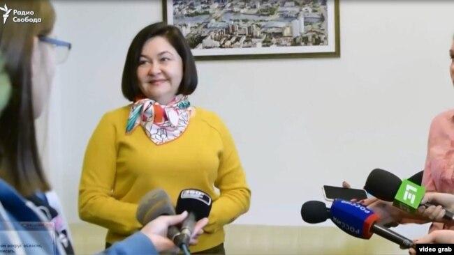 Наталья Горлова и журналисты