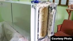 Холодильник, который пытались пронести в колонию. Фото пресс-службы УФСИН по Мурманской области