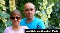 Игорь Никитенко с женой Натальей. Архивное фото