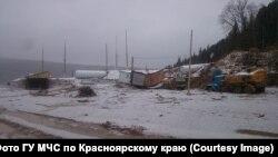 Селище Щетинкіно на півдні Красноярського краю Росії, де стався прорив дамби