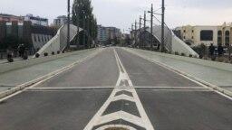 Most u Mitrovici koji kao granica severnog i južnog dela grada