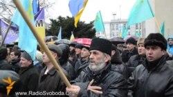 У Криму, попри погрози, мітингували проти диктатури