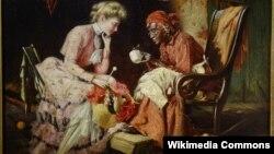 Гары Герман Роўзлэнд, «Варажэньне на чаінках» (1906).