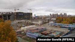 The so-called Zenit-Arena stadium in St. Petersburg is said to be 85 percent complete. (file photo)