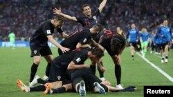 Хрватите слават по победат против Русија