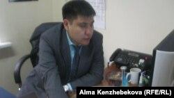 Айдар Кырыкбаев, пресс-секретарь корпорации, владеющей торговыми точками с фиксированными ценами. Алматы, 7 марта 2014 года.