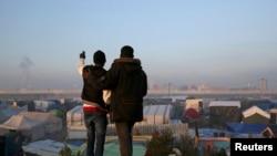 Migranti u Kaleu, fotoarhiv