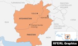 د افغانستان او پاکستان ترمنځ د پولې نقشه