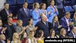 Аляксандар Лукашэнка на спаборніцтвах Кубку фэдэрацыі ў Менску