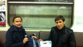 Maksim Malyshev (right)after distributing clean needles, contraceptives, and medical supplies to addicts.