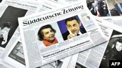 Николя Саркози и Лилиан Беттанкур на страницах европейской прессы