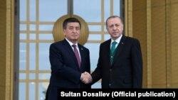 Сооронбай Жээнбеков менен Режеп Тайып Эрдоган. Анкара, 9-апрель, 2018-жыл