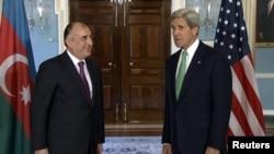 Washington -- U.S. Secretary of State John Kerry meets Azerbaijani Foreign Minister Elmar Mammadyarov at the State Department, Washington DC, 03Jun2013.