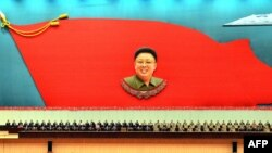 Ким Чен Ирдің туғанына 71 жыл толғанын атап өту шарасы. Солтүстік Корея, 15 ақпан 2013 жыл.