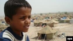 مخيم للمهجرين في النجف