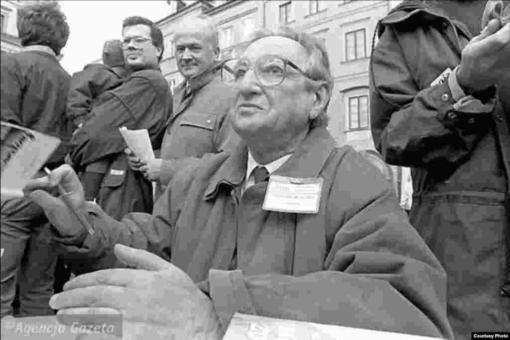 Предвыборная кампания. Марек Эдельман баллотируется в Сенат, 1991 г