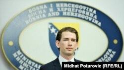 Ministar vanjskih poslova Austrije, Sebasitan Kurz tokom ranije posjete BiH