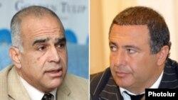 Armenia - Raffi Hovannisian (L), leader of Zharangutyun (Heritage) Party, and Gagik Tsarukian, leader of Prosperous Armenia Party.