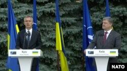 Jens Stoltenberg i Patar Porošenko u Kijevu
