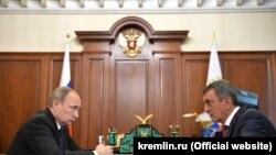 В. Путин и С. Меняйло, полпред в СибФО
