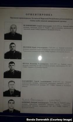 Розшук колишніх співробітників міліції. Листівка з бараку бойовиків, сфотографована Бондо Доровських