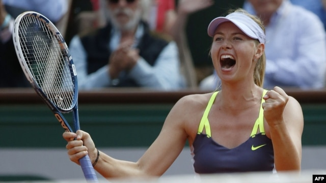 The 2014 French Open is Sharapova's fifth Grand Slam title. (file photo)