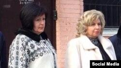 Уполномоченная Верховной Рады по правам человека Валерия Лутковская и российский омбудсмен Татьяна Москалькова