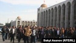 Участники вчерашней демонстрации проникли на территорию парламента