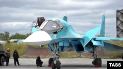 A new-generation Su-34 bomber at the Novosibirsk Aviation Plant in 2014