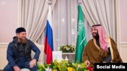 Рамзан Кадыров и наследный принц Саудовской Аравии Мухаммад бен Салман (ноябрь, 2016 г.)