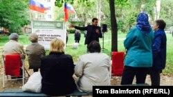 Эпизод предвыборной кампании в Костроме, выступает Илья Яшин