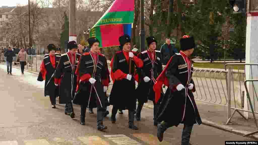 В Крым приехали кубанские казаки