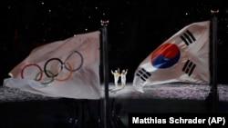 23-nji Gyşky olimpia oýunlarynyň açylyş dabarasy, Phýongçhang, 9-njy fewral, 2018.