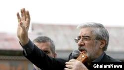 Presidential candidate Mir Hossein Musavi