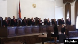 Armenia - The Constitutional Court rejects an opposition appeal aganst the official results of parliamentary elections, 28Apr2017.