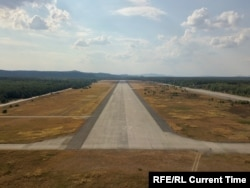 A runway of the massive airfield built in Ralsko