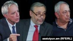 Слева направо: Вардан Осканян, Александр Арзуманян, Ваан Папазян