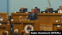 Milorad Dodik na sjednici Narodne skupštine RS 23. decembra
